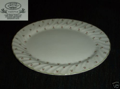 Johnson Brothers Thistle 1 Oval Serving Platter