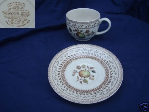 Johnson Brothers Fruit Sampler 2 Cup and Saucer Sets