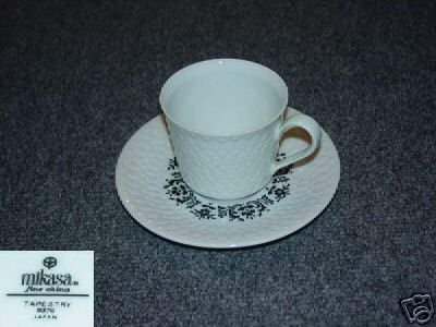 Mikasa Tapestry 1 Cup and Saucer Set - MINT