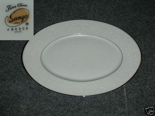"Sango Fresco 1 Oval Serving Platter 12 1/4"""