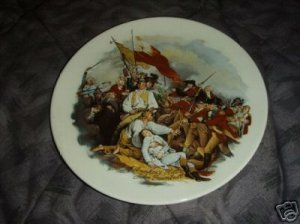 Battle of Bunker's Hill John Trumbull Collector Plate