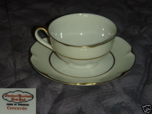 Theodore Haviland Concorde 4 Cup and Saucer Sets