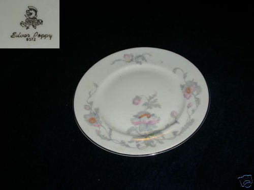 Warwick Silver Poppy 1 Bread and Butter Plate