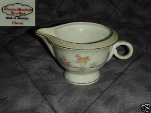 Theodore Haviland NY Gloria 1 Cream Pitcher ( Creamer )