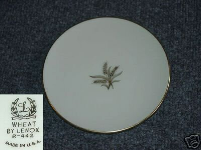 Lenox Wheat 4 Bread and Butter Plates