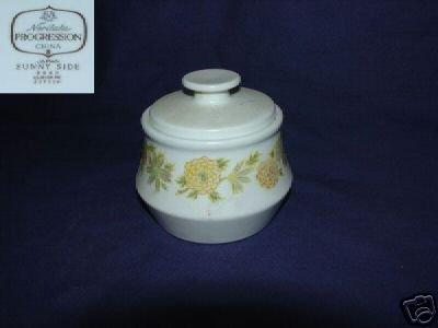 Noritake Sunny Side 1 Sugar Dish ( Bowl ) with Lid