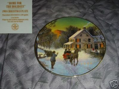 Avon Home for the Holidays 1988 Collector Plate