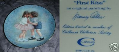 Calhoun's First Kiss by Rosemary Calder Collector Plate