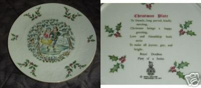 Royal Doulton 1977 Christmas Collector Plate