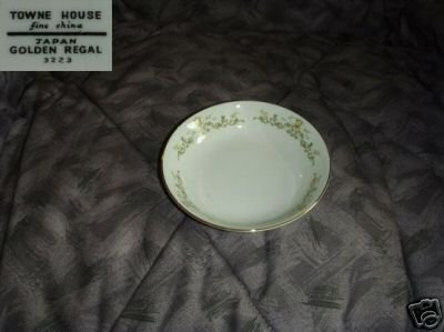 Towne House Golden Regal 3 Fruit Dessert or Bowls