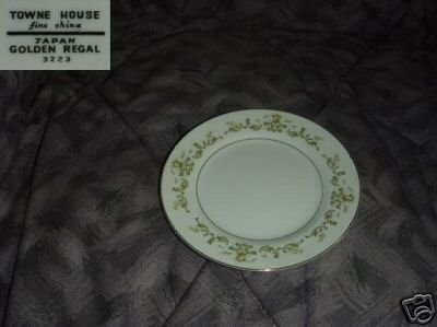 Towne House Golden Regal 6 Bread and Butter Plates