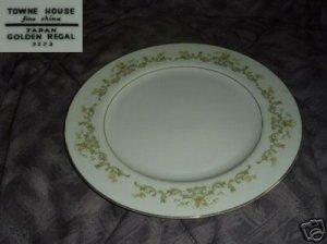 Towne House Golden Regal 4 Dinner Plates