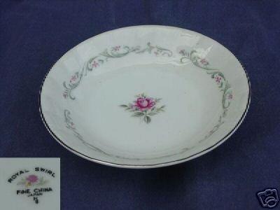 Fine China of Japan Royal Swirl 4 Fruit Dessert Bowl