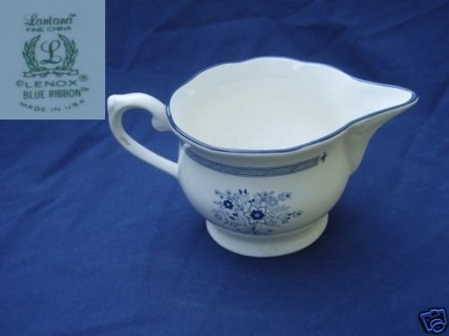 Lenox Blue Ribbon 1 Cream Pitcher ( Creamer )