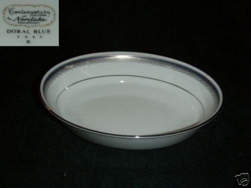 Noritake Doral Blue 1 Oval Vegetable Serving Bowl