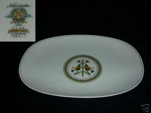 "Noritake Hermitage 1 Oval Serving Platter - 13 1/4"""