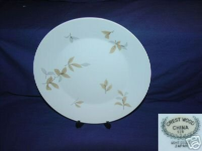 Crest Wood China Monticello Pattern 7 Dinner Plates