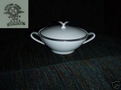Noritake Colony 1 Sugar Dish ( Bowl ) with Lid