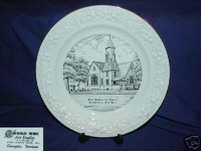 First Presbyterian Church Franklinville, NY Plate