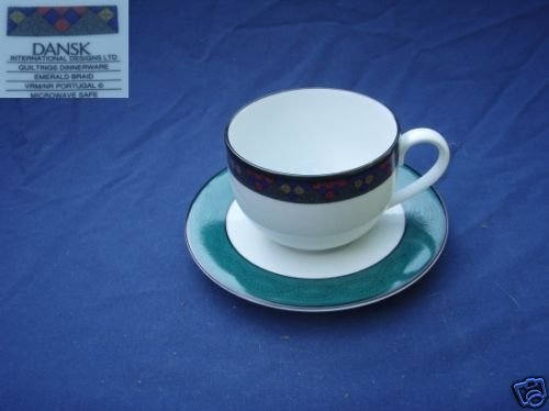 Dansk Emerald Braid 2 Cup and Saucer Sets