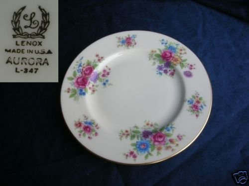 Lenox Aurora 6 Bread and Butter Plates
