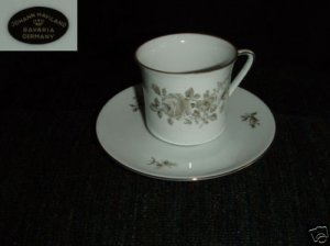 Johann Haviland Twilight 4 Cup and Saucer Sets - New