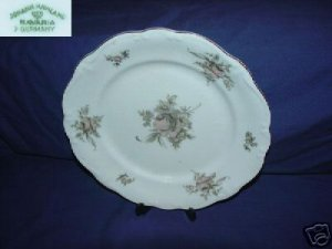 Johann Haviland Brown Rose 2 Bread Plates
