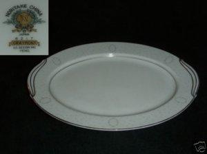 """Noritake Graymont 1 Oval Serving Platter - 13 7/8"""""""