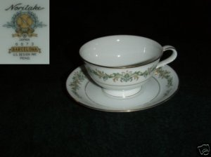 Noritake Barcelona 4 Cup and Saucer Sets