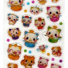 Q-Lia Japan Feng Shui Cats Sticker Sheet