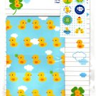 Daiso Japan Lovely Duck Letter Set with Stickers Kawaii