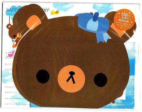 Japan Kamio Happy Memorial Sky Bear Letter Set