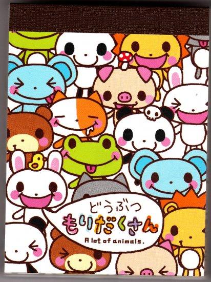 Japan Q-Lia A Lot of Animals Mini Memo Pad