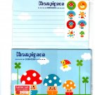 Daiso Japan Champignon Mushroom Letter Set with Stickers Kawaii