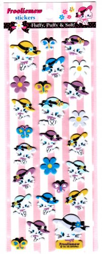 Japan Sanrio Frooliemew Puffy Sticker Sheet