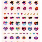 Japan Sanrio Little Twin Stars Sticker Sheet and Bookmark