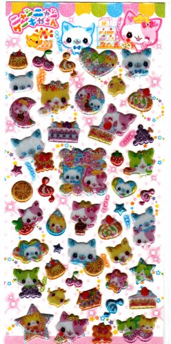Japan Crux Nyan Nyan Bakery Puffy Sticker Sheet