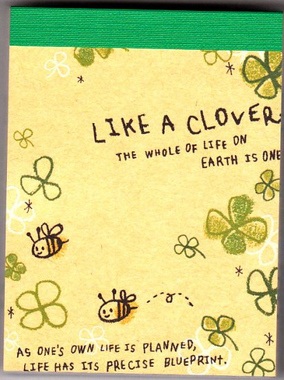 Q-Lia Japan Like A Clover Mini Memo Pad