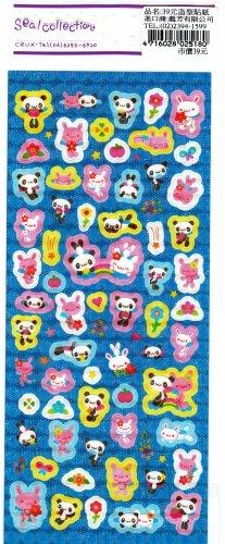 Crux Japan Panda and Bunny Rainbow Sticker Sheet SALE