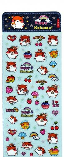Q-Lia Japan Happy Kohamu Sticker Sheet SALE
