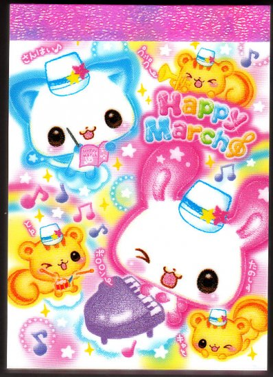 Kamio Japan Happy March Mini Memo Pad