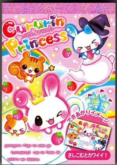 Q-Lia Japan Cururin Princess Mini Memo Pad Kawaii