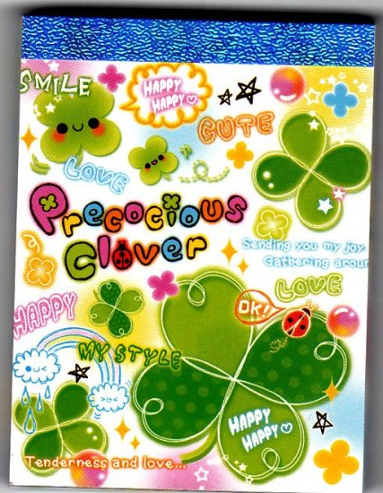Kamio Japan Precocious Clover Mini Memo Pad Kawaii