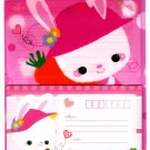 Japan Happy Smile Bunny Rabbit  Letter Set in Folder Kawaii