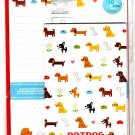 Mind Wave Japan Dot Dog Letter Set with Stickers Kawaii
