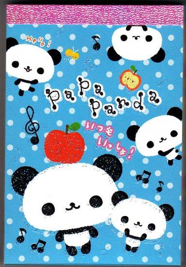 San-X Japan Papa Panda Mini Memo Pad Kawaii