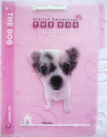 Artlist Collection The Dog Chihuahua Pink File Folder Kawaii