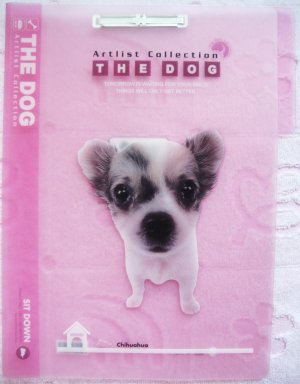 Artlist Collection The Dog Chihuahua Pink File Folder Kawaii