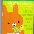 San-X Japan Suki to issyo Rabbit Mini Memo Pad Kawaii