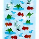 Sanrio Japan Gold Fish and Frog Epoxy Sticker Sheet Kawaii